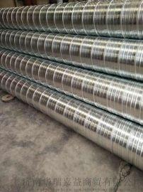 鍍鋅螺旋風管通風管鐵皮風管排風管通風管道 煙囪管圓形風管13210537391