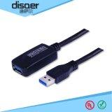 廠家直銷 迪薩爾帶放大器5米USB 3.0延長線 USB全速率傳輸12Mbps