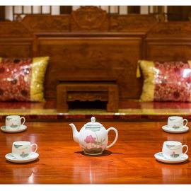 銀銀瓷器醴陵釉下五彩瓷高端瓷器商務禮品陶瓷茶具定制送禮茶具