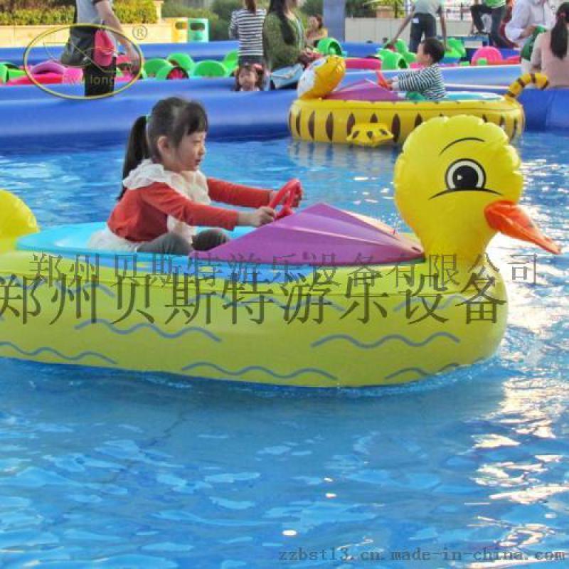 广西玉林充气水池乐园双人手摇船
