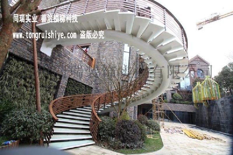 钢架旋转楼梯图片 旋转楼梯厂家实景案例图片