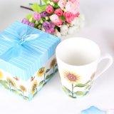 创意高档向日葵马克杯带礼盒送情侣会销员工赠品商务礼品定制