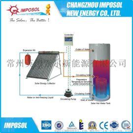 出口品质120L-350分体承压太阳能热水器厂家直销三高管工程用