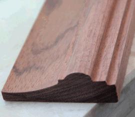 廠家供應 天然花梨實木線 門套線 實木踢腳線 實木線條  裝飾線條