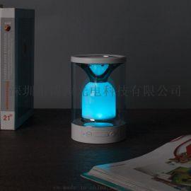 內置鋰電池七彩小夜燈插卡藍牙音響免提通話重低音炮