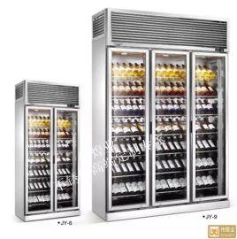 304#不鏽鋼拉絲酒櫃-原色不鏽鋼恆溫酒櫃