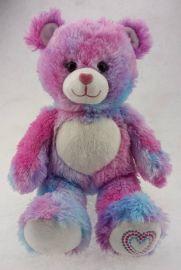 厂家来图定制泰迪熊毛绒公仔创意彩虹熊猫毛绒玩具加公司LOGO定制