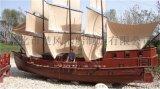 供应新款纯手工 户外景观装饰船 帆船 木船 海盗船 仿古船