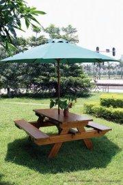 实木桌椅 实木野餐台 实木餐椅 实木桌椅
