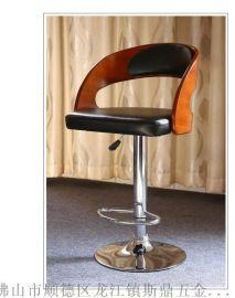 休闲现代旋转凳/酒吧凳皮质高脚椅子批发定制