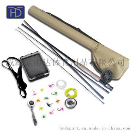 飞钓套装 9英寸飞钓竿CNC飞钓轮 fly fishing 提供OEM