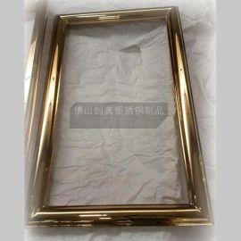 定制酒店会所不锈钢镜框线条 不锈钢装饰造型 耐氧化 耐腐蚀