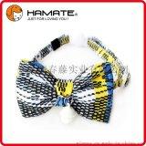 哈美特 寵物廠家專業生產新款帆布民族風蝴蝶結有鈴鐺貓項圈有現貨