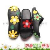 花朵凉鞋女夏季一字型拖外贸防滑EVA沙滩鞋居家凉拖鞋一件代发