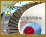 京艺旋转楼梯大型消防楼梯不锈钢楼梯定制精品钢结构楼梯