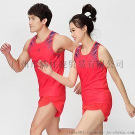 2018田径服套装男女款速干背心跑步考试训练学生运动服