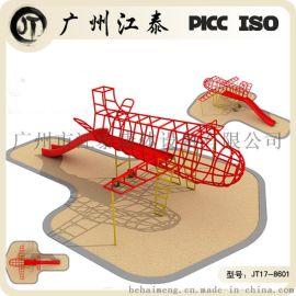 不锈钢飞机攀爬架 钢制大型儿童飞机
