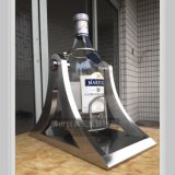 酒店高档红酒酒架 不锈钢马爹利倒酒架 大酒瓶倒酒架 结构坚固 方便实用