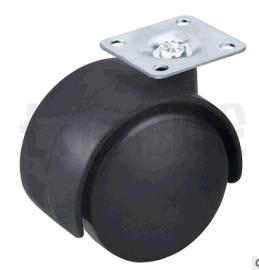 厂家直销万向轮1寸小塑料轮子平板万向脚轮厂家具脚轮子CC-1201