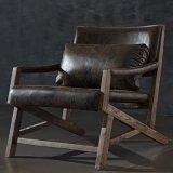 北欧时尚简约仿古布水曲柳实木沙发椅躺椅休闲椅户外椅
