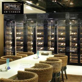 不锈钢酒柜定制家用 酒柜隔断柜红酒柜 不锈钢