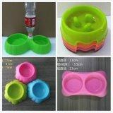 貝貝樂寵物碗 雙碗磨砂碗 寵物用品批發