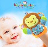 宝宝手偶玩具洗澡巾搓澡手套亲子互动卡通动物毛绒玩具