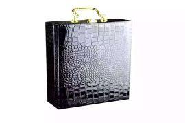 现货鳄鱼纹皮带盒PU皮盒优质高档礼品盒手工皮盒手提礼盒热销精品