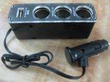 亚天ASIA525一拖三点烟器扩充CE认证一拖三车载点烟器带USB
