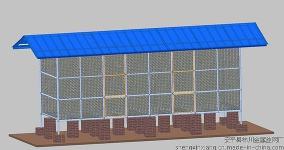 七台河市宝圣鑫新型粮仓10目钢骨架矩形储粮仓长4米、宽1.5米、高2.05米
