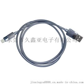 USB對Lightning鋅合金殼彈簧數據線