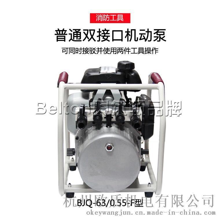 双接口液压机动泵 bjq-63/0.55-f 接驳并使用两件工具图片