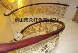 K金铝板雕花楼梯护栏