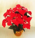 仿真一品紅盆景仿真聖誕花 仿真花束