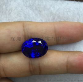 绚彩珠宝批发椭圆形坦桑石,5A级坦桑石戒面