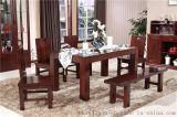 现代简约实木餐桌餐厅黄菠萝木环保实木家具