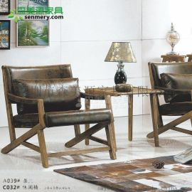 北欧单人沙发椅客厅小沙发卧室阳台沙发 老虎椅