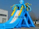 章魚滑梯 充氣水上滑梯 天中遊樂多人滑梯----TZ_天中遊樂方玲貳月