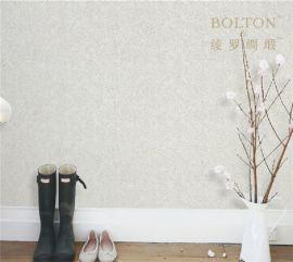 宝路通素色无缝墙布,欧式美式简约风,棉麻原料