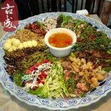 厂家直销 景德镇青花陶瓷火锅盘 直径60厘米家庭聚餐火锅盘