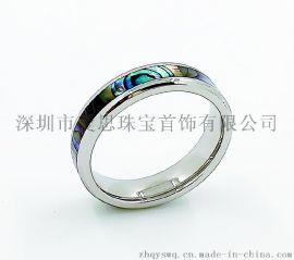 爱思BXG-001不锈钢镶嵌宝石戒指