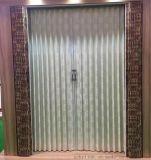 赛门不锈钢软包皮布立川式保暖隔音阻燃环保室内隔断储藏室移门更衣室 厨房折叠门
