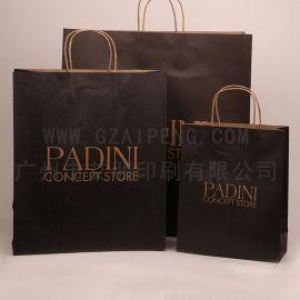 厂家现货牛皮纸袋 手提袋定制 服装包装礼品纸袋广告纸袋子定做