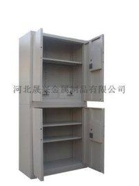 4門鐵皮文件檔案櫃 帶暗鬥雙節保密文件櫃 鋼制辦公資料儲存櫃