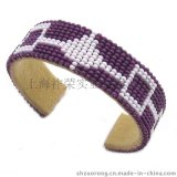 串珠手镯 织珠手镯 珠绣手镯 串珠手链 手工钉钻手镯
