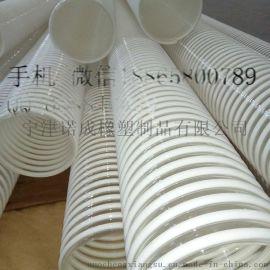防静电TPU塑筋螺旋增强软管碎屑颗粒输送耐磨塑筋软管