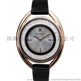 AOSCWALD手表时尚镶钻女士手表watch 女款潮流学生石英表现货批发