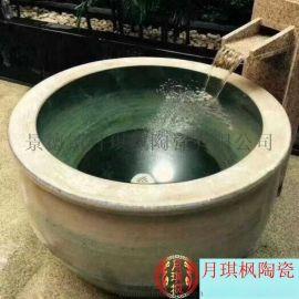 陶瓷泡澡缸日韓式溫泉浴場泡缸陶瓷洗浴大缸廠家
