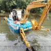 鱼塘清淤机,小型两用挖淤泥机,水上清淤挖掘机