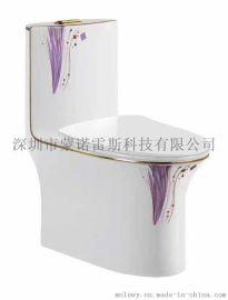 蒙诺雷斯彩金马桶---001紫兰花